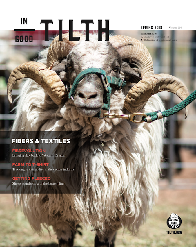 Spring 2018: Fibers + Textiles issue cover